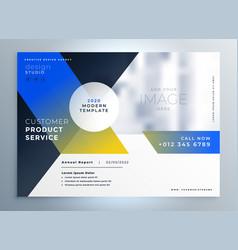 Modern business brochure flyer presentation style vector