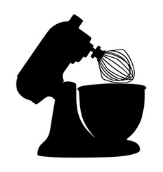 Modern kitchen mixer silhouette isolated vector