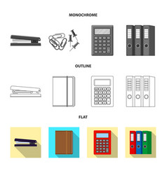 Office and supply sign vector