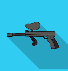 paintball gun icon in outline style isolated on vector image