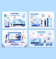 pharmacy delivery service landing pages vector image