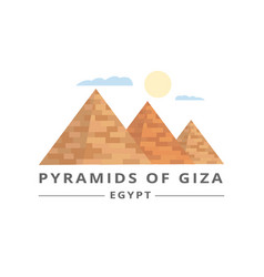 pyramids giza tourists banner or flyer template vector image