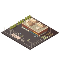 Radio Center Building Concept vector
