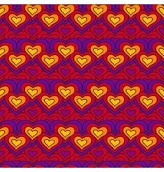 Red chain of hearts seamless pattern vector