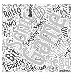 Retro revisited chaotix text background wordcloud vector