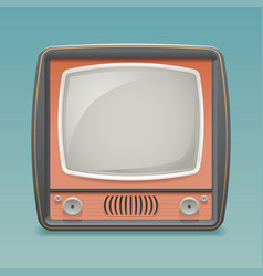 Retro vintage old tv placeholder frame icon vector