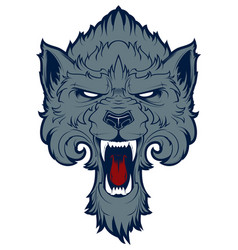 roaring wolf vector image