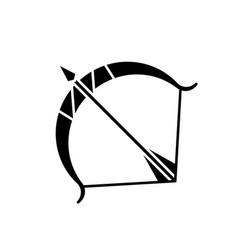 Sagittarius sign black glyph icon vector