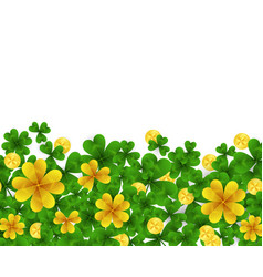 Saint patrick s day border with green and gold vector