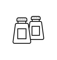 salt spice pepper container jar icon kitchen vector image