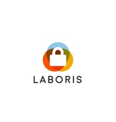 Security lock logo design logotype vector image