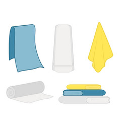 set of clean towel vector image