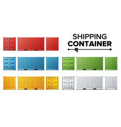 shipping cargo container set freight vector image