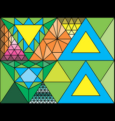 stained glass window triangulation random vector image