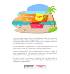 summer hot sale web page vector image