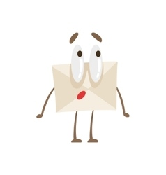 Surprised humanized letter paper envelop cartoon vector