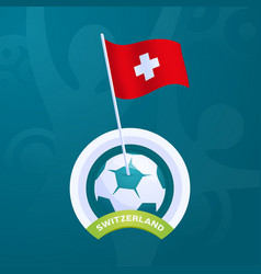 switzerland pinned to a soccer ball european vector image