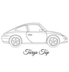 targa top car body type outline vector image