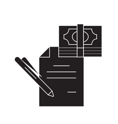 technical financial report black concept vector image