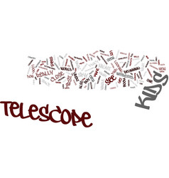 Telescope for kids text background word cloud vector