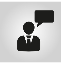 The speaking people icon Talking and vector