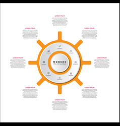 Timeline circle infographic template vector