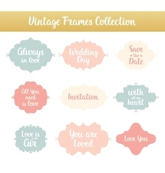 Vintage frames with phrases vector image