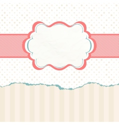 Vintage polka dot card EPS 8 vector image