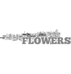 Why order flowers online text word cloud concept vector