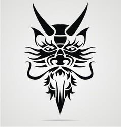 Dragon head tribal vector