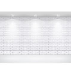 gallery brick wall vector image vector image