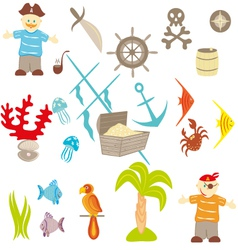 piracy set vector image vector image