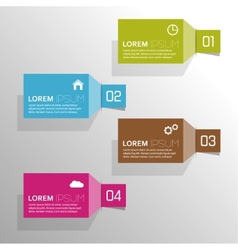Plain colored paper stickers with numbers and vector image vector image
