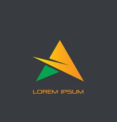 star triangle arrow business logo vector image