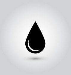 black drop icon oil or water symbol simple flat vector image