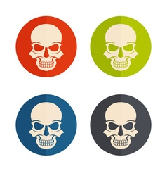flat design icons with skulls vector image