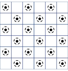 Football Ball Navy Blue Grid White Background vector image vector image