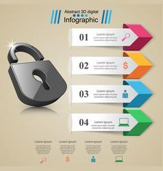 infographic lock icon vector image