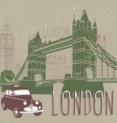 journey to London vector image