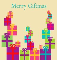 Merry Giftmas Boxes vector image vector image