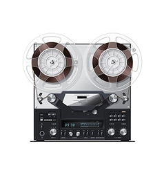old retro recorder with display vector image