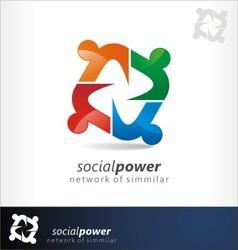 social power vector image vector image