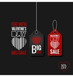 Valentines Day Set of Sale Tags design Background vector image vector image