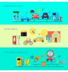 Alternative Energy Banners Set vector image