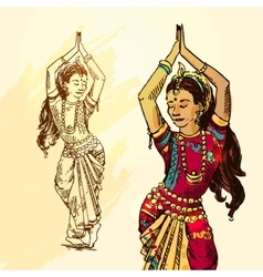 beautiful India vector image
