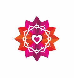 church logo and christian symbols vector image vector image