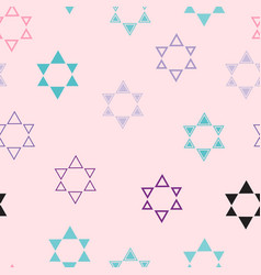 color images of stars of david vector image