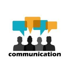 communication between people vector image