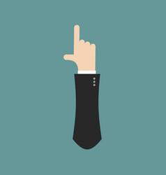 i letter businessman hand font it shows finger vector image