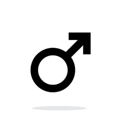 Male icon on white background vector image vector image
